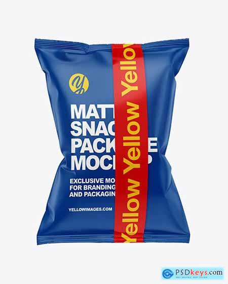 Matte Snack Bag w- Tape Mockup 53537
