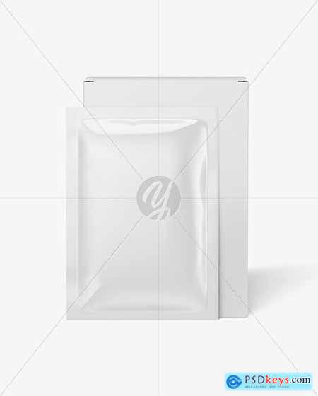 Paper Box with Glossy Sachet Mockup 53542