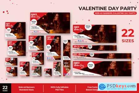 Valentine Day Party Web Ad Banners