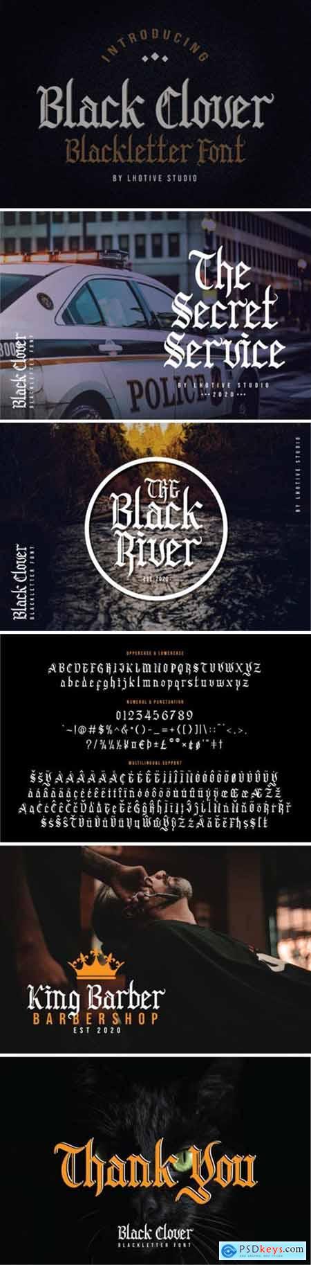 Black Clover Font