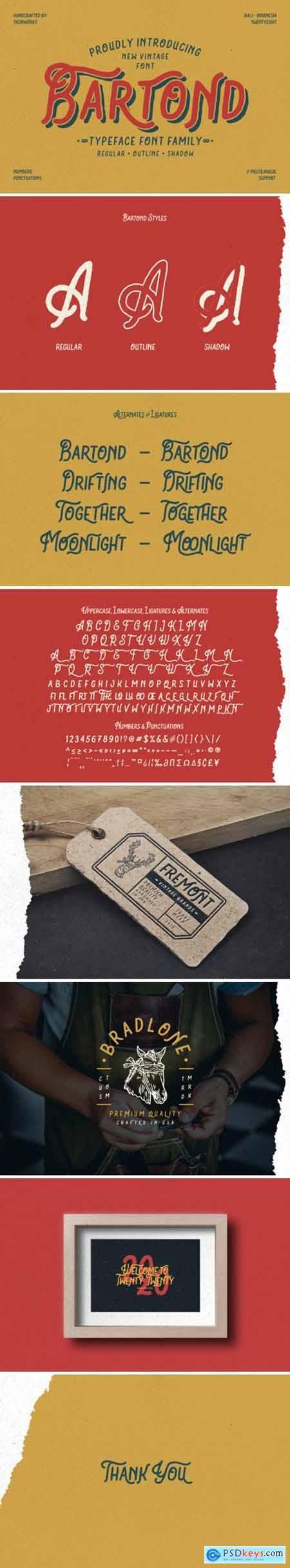 Bartond Typeface 4428876
