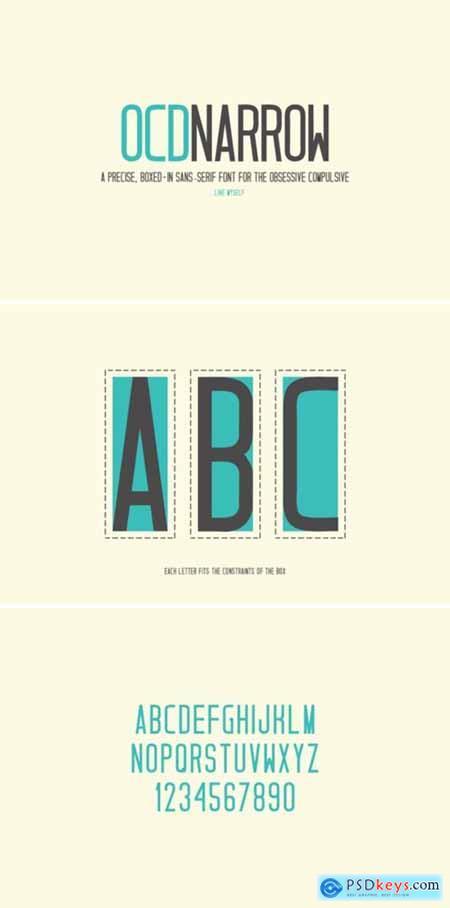 OCD Narrow Font