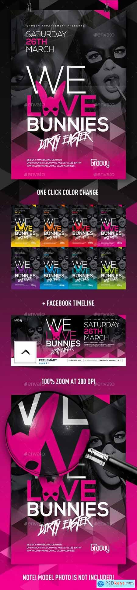 We Love Bunnies Flyer 14833979