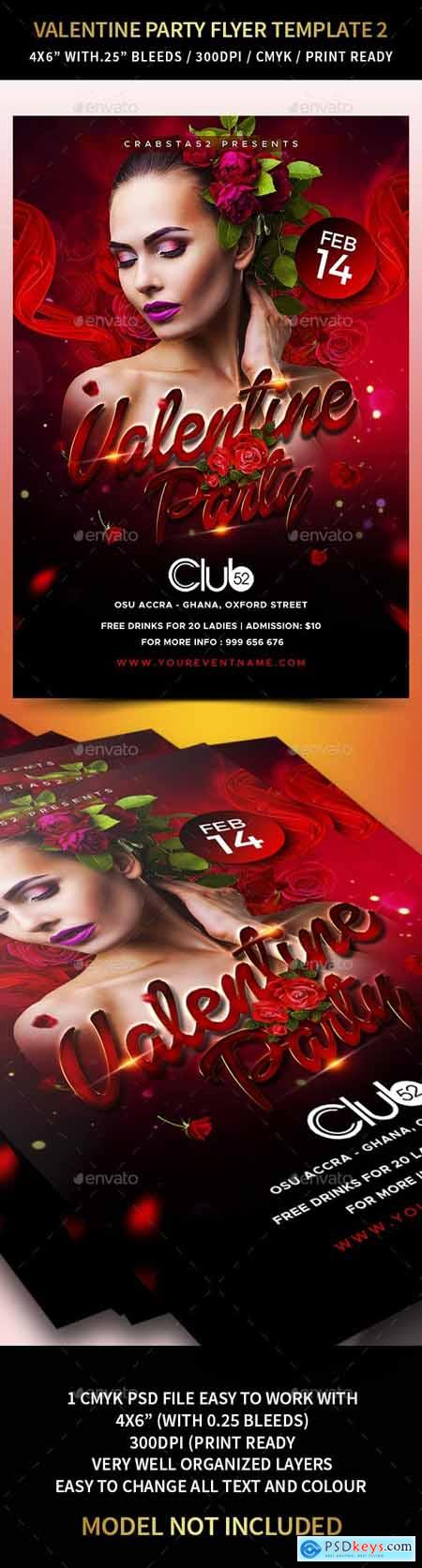 Valentine Party Flyer Template 2 23168285
