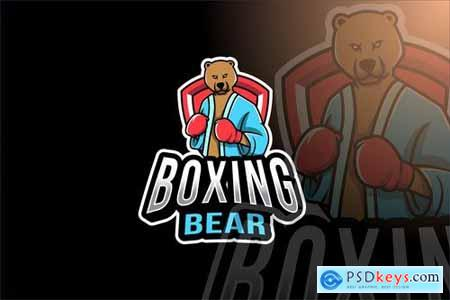 Boxing Bear Esport Logo Template