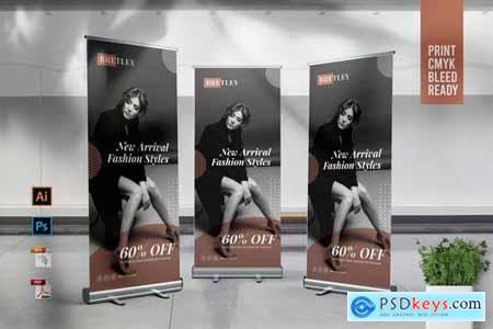 BRETLEY Fashion Store Roll Up Banner Template