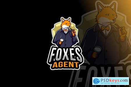 Foxes Agent Logo Template