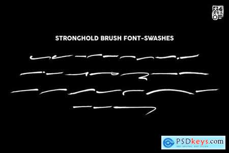 STRONGHOLD Brush font 4456701