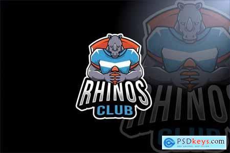 Rhinos Club Sport Logo Template