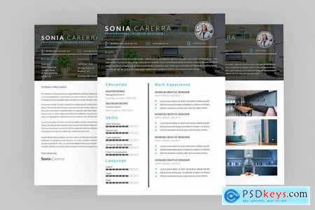 Sonia Interior Resume Designer