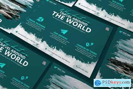 Travel Poster Flyer DL Rackcard A5 Business Flyer PSD Templates