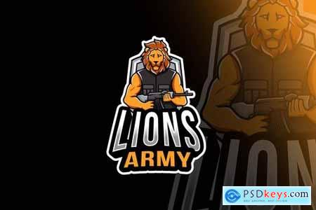 Lions Army Esport Logo Template