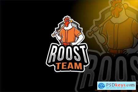 Rooster Team Sport Logo Template