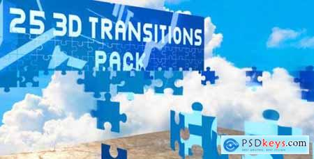 Videohive 3D Transitions Pack 9136500