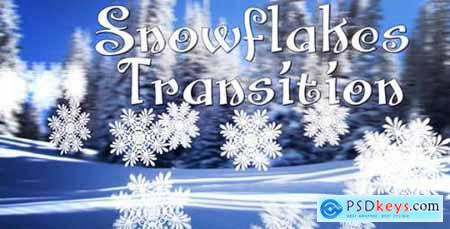 Videohive Snowflakes Transition 9294094