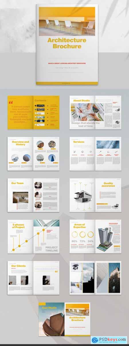 Architecture Brochure Layout with Yellow Accents 259778924