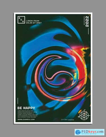 Abstract Colorful Liquify Background Poster Design Layout 315148238