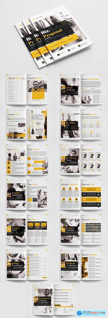 Business Proposal Layout with Yellow Accents 315189954
