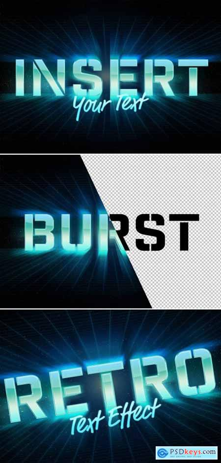 Burst Retro Style Text Effect Mockup 315397348