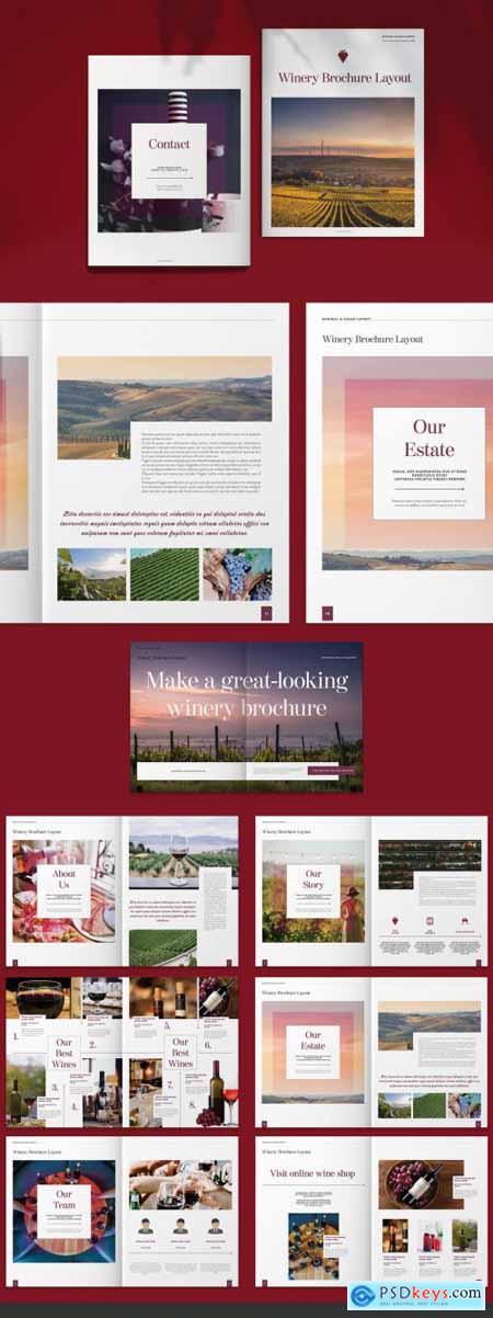 Winery Vineyard Brochure Layout 263758592