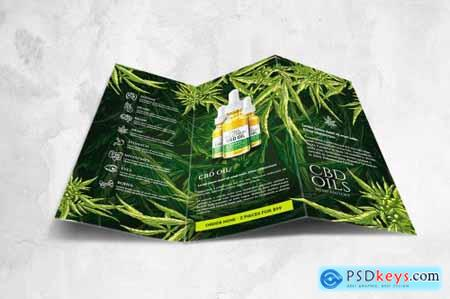 CBD Hemp Oils Trifold Flyer - A4 US Letter
