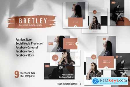 BRETLEY Fashion Store Facebook Ads Web Banner