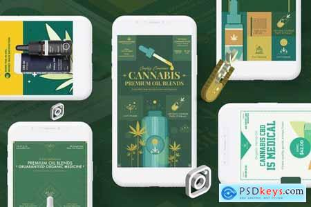 Cannabis Hemp Oil Products Instagram Stories
