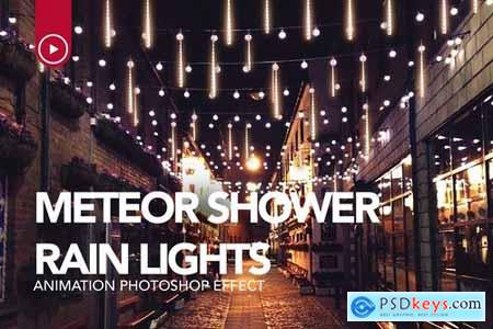 Gif Animated Meteor Shower Light Photoshop Action 24712030[