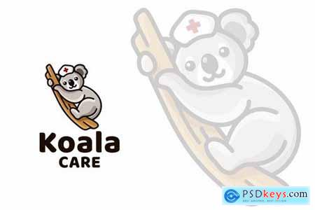 Koala Care Cute Kids Logo Template