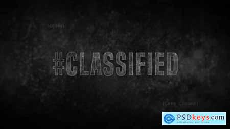 Videohive Crime Title Sequence Credits Classified Detective 20803530