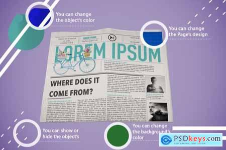 Abstract Newspaper MockUp 4442651