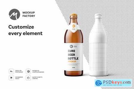 Euro Beer Bottle Mockup 4419500