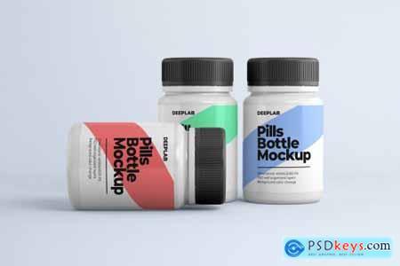 Medical Pill Bottle Mockup - 11 set 4429056