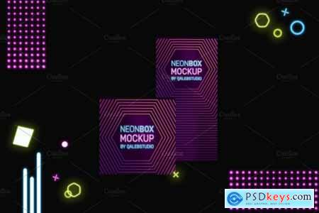 Neon Boxes Mockup 4442902