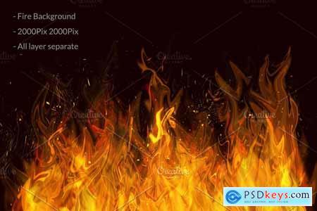 Fire & Smoke Bundle PSD 4422579