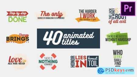 Videohive 40 Animated Titles 23940682