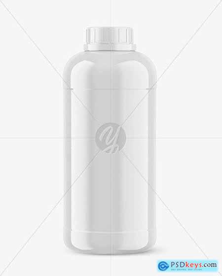1L Glossy Plastic Bottle Mockup 53497