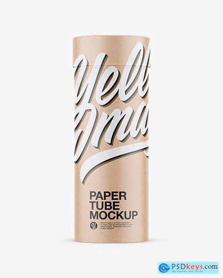Kraft Paper Tube Mockup 53496