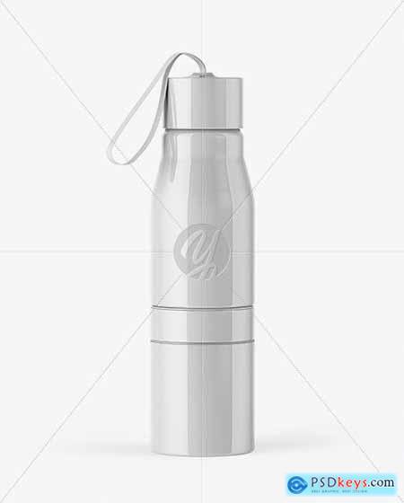 Glossy Water Bottle Mockup 53599