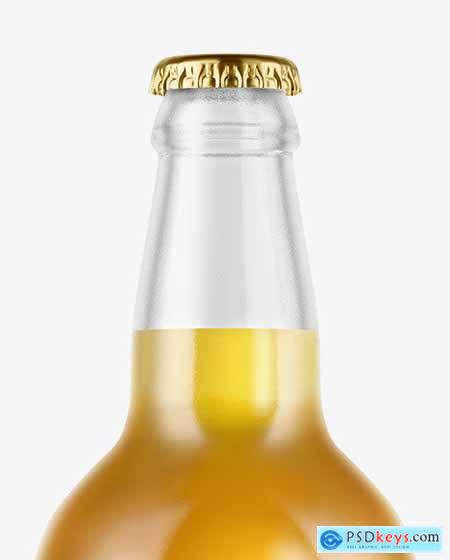 Clear Glass Lager Beer Bottle Mockup 53191