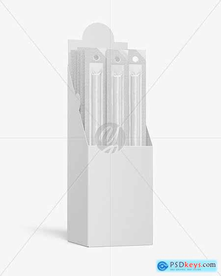 Paper Box with Snack Sticks Mockup 53607