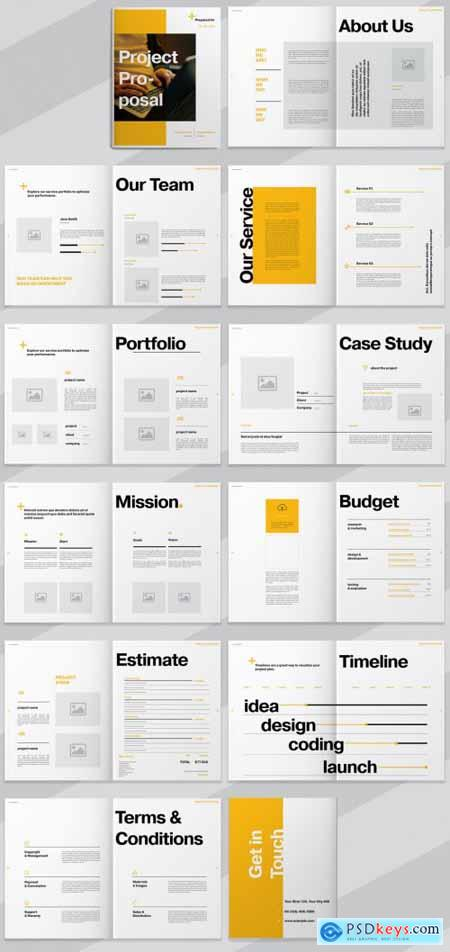 Project Proposal Layout with Orange Accents 273173446