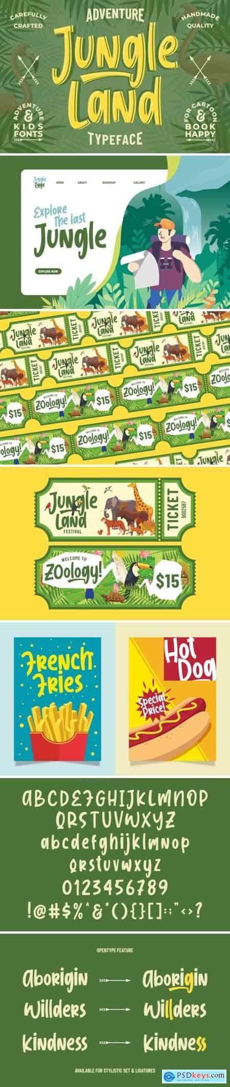 Jungle Land -- Kidsventure Font 4477796