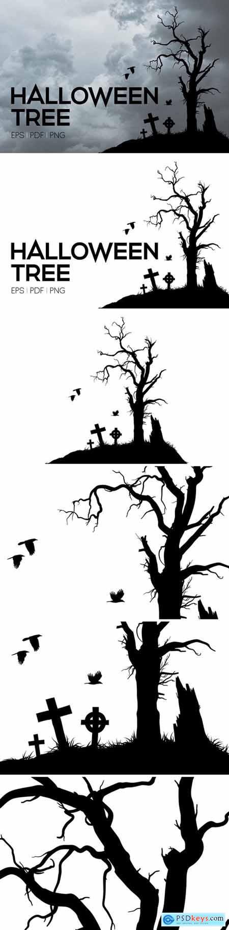 Vector Halloween Tree 3011381