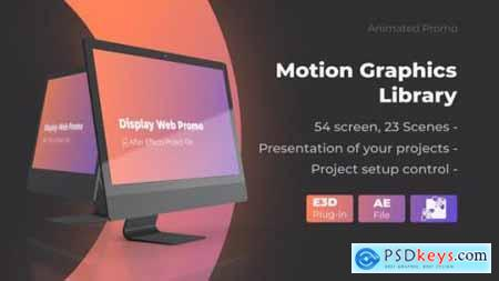 Videohive Animated Screen Website Mockup Promo iMac Pro Mockup Web Presentation 25507976
