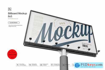 Billboard Mockup 6x3 4462983