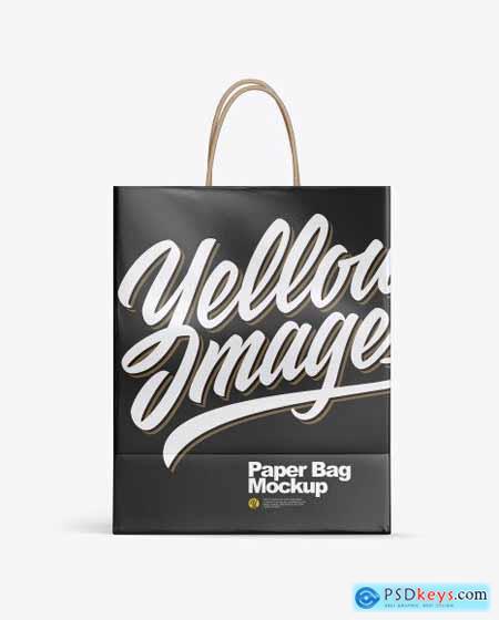 Glossy Shopping Bag w- Rope Handles Mockup 53761