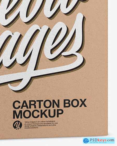 Carton Kraft Box Mockup 53717
