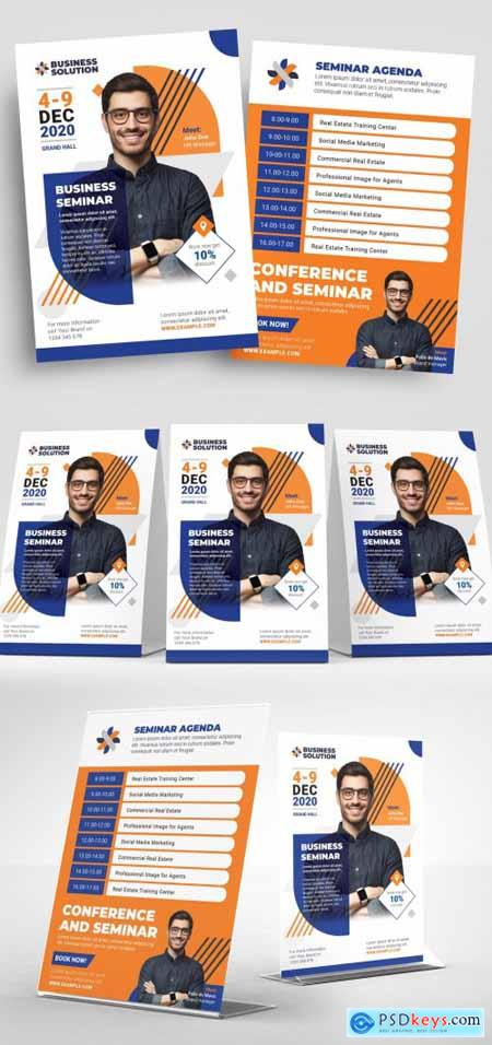 Blue and Orange Corporate Flyer Layout 315728066