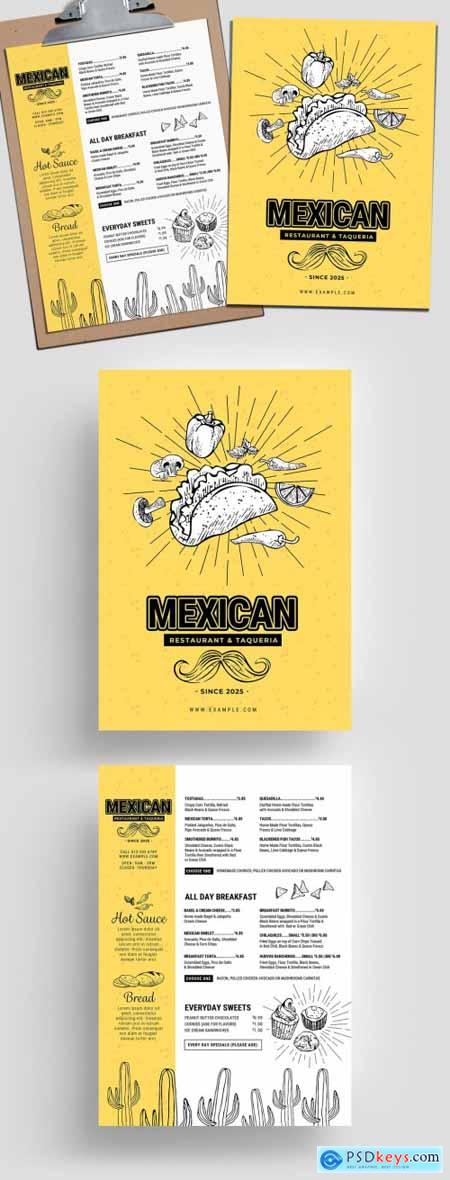 Mexican Restaurant Menu Layout 315968503